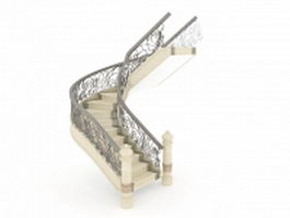 U-Shaped stair 3d preview