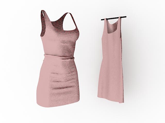 Fashion mini dresses 3d rendering