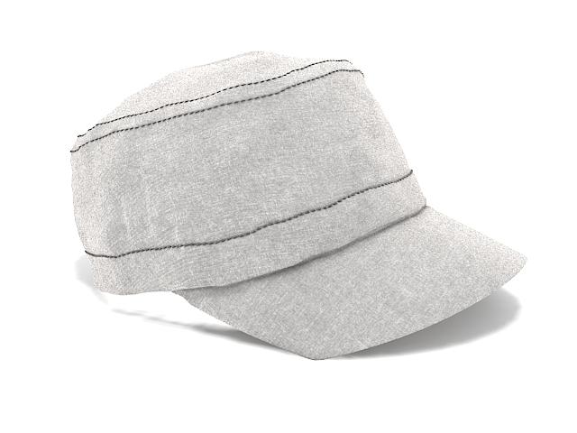 Ladies newsboy cap 3d rendering