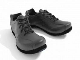 Black athletic shoes 3d model preview
