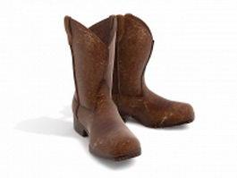 Vintage cowboy boots 3d preview