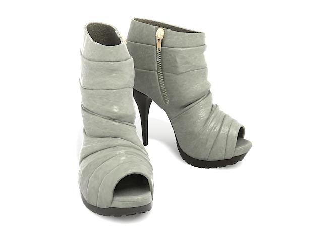 Open toe boots 3d rendering