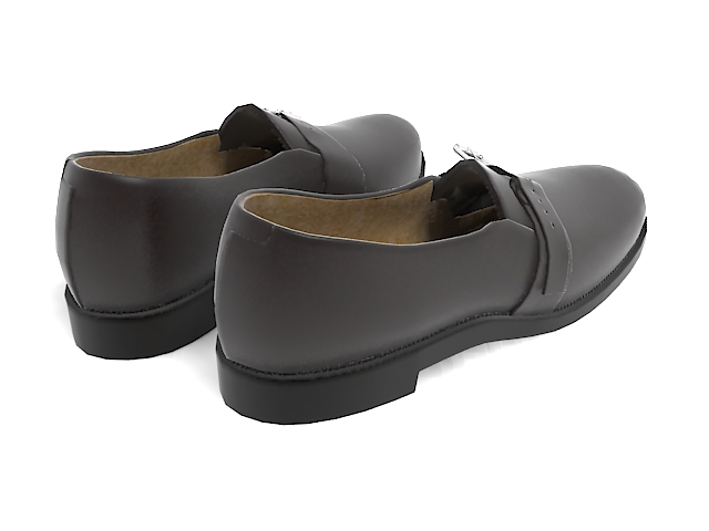 Men's casual shoes 3d rendering