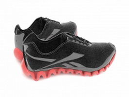 Black sneakers 3d model preview