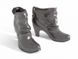 Ankle boots 3d model preview