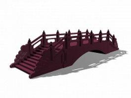 Antique landscape stone bridge 3d preview