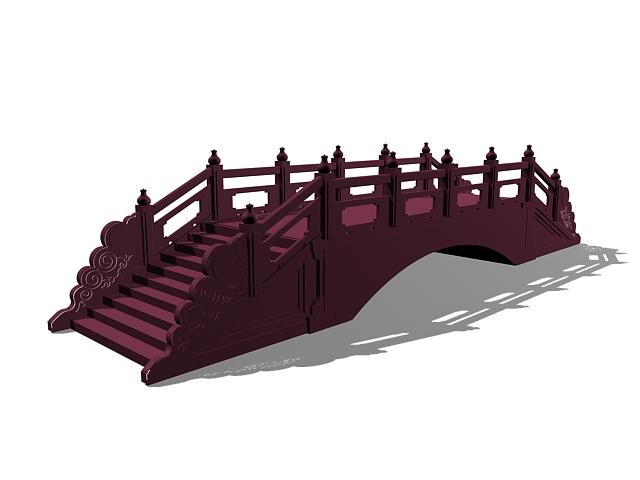 Antique landscape stone bridge 3d rendering