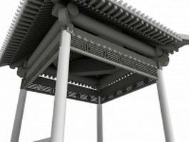 Antique Chinese pavilion 3d preview