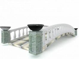 Chinese garden stone bridge 3d preview