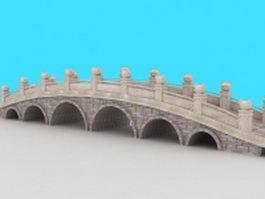 Ancient Chinese bridge 3d preview