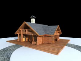 Small country cottage 3d model preview