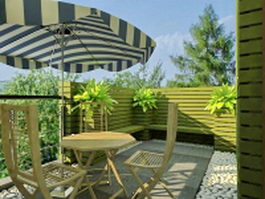 Balcony landscaping ideas 3d preview