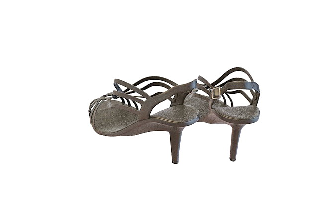 Black sandals for women 3d rendering