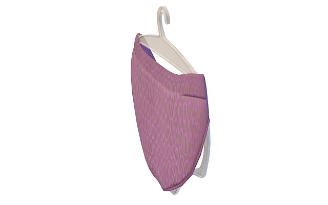 Underpant on hanger 3d rendering