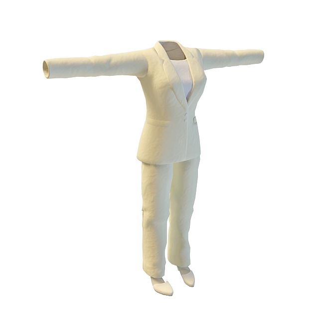 Women's career apparel 3d rendering