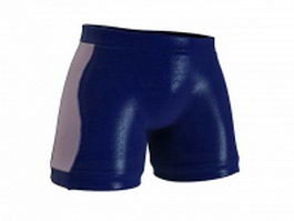 Square cut swim trunks 3d preview