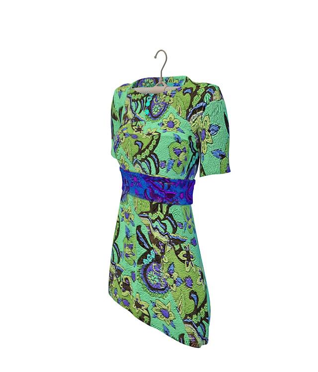 Semi-sleeve dress 3d rendering