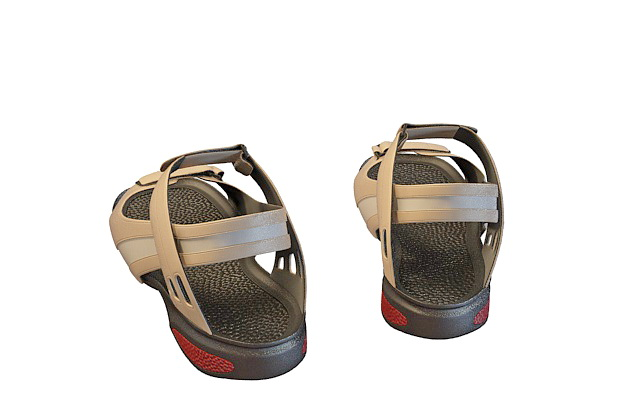 Men's sandals 3d rendering