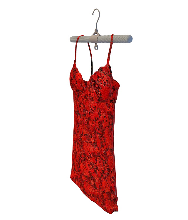 Red camisole 3d rendering
