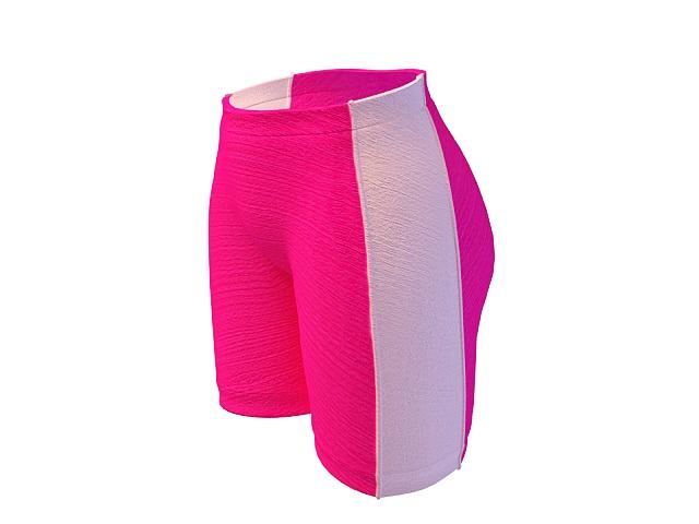 Pink boy shorts 3d rendering