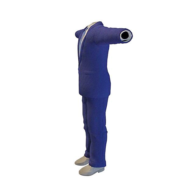Blue suit for man 3d rendering