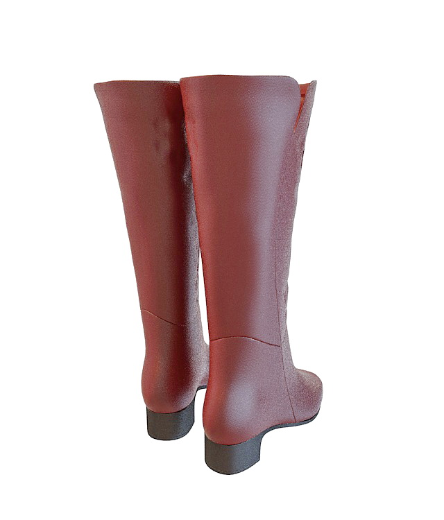 High leather boots 3d rendering