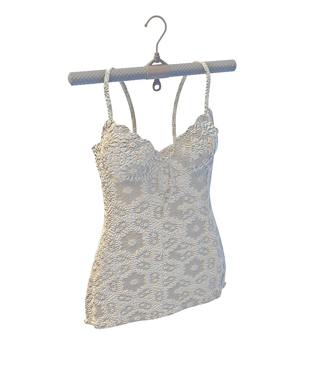 White embroidery camisole 3d rendering