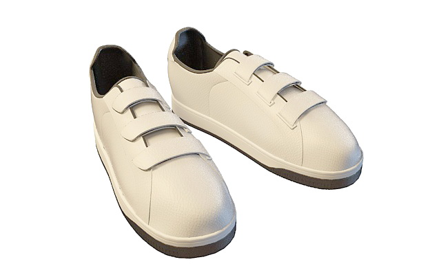 Mens casual shoes 3d rendering