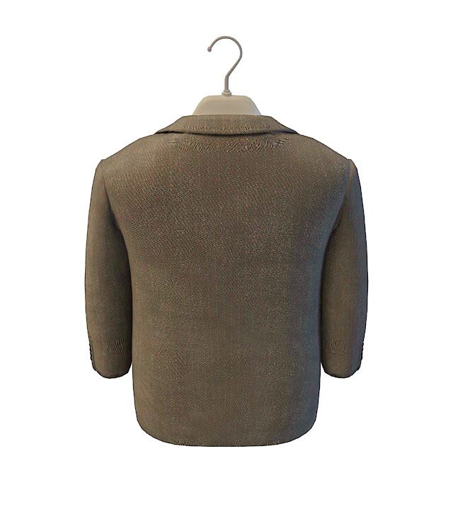 Mens grey wool suit 3d rendering