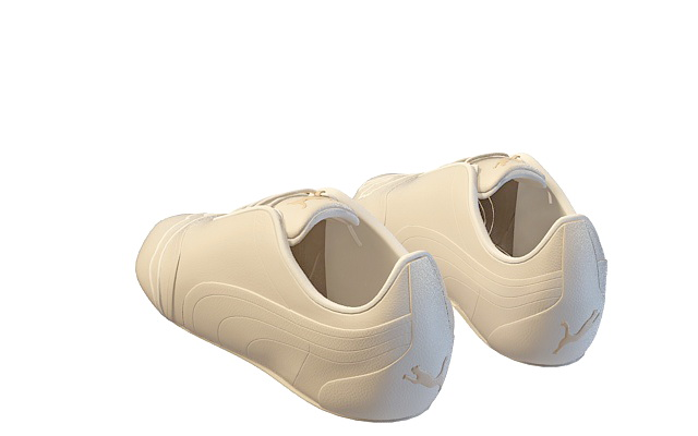 White casual shoes for men 3d rendering