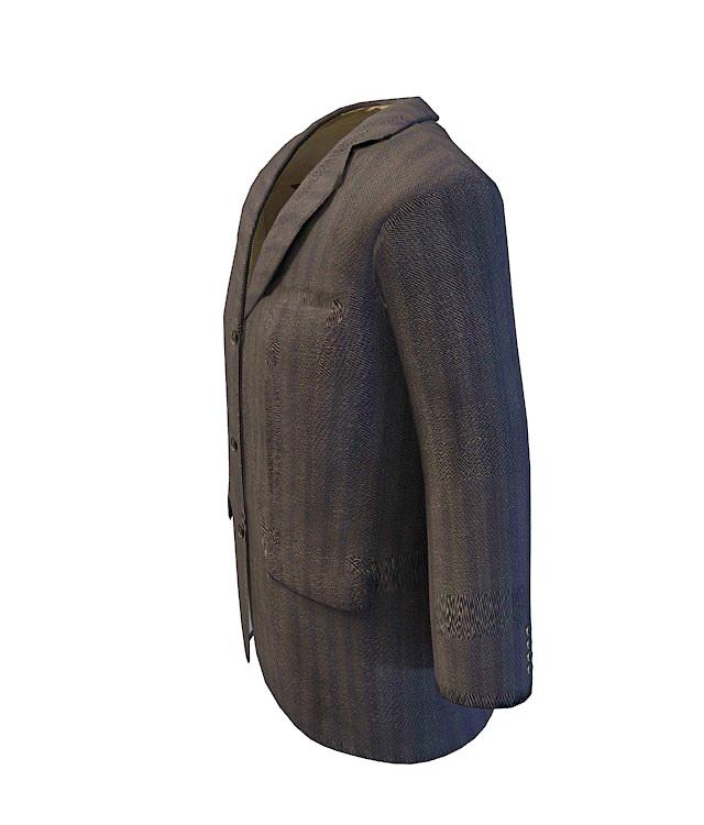 Business suit jacket 3d rendering