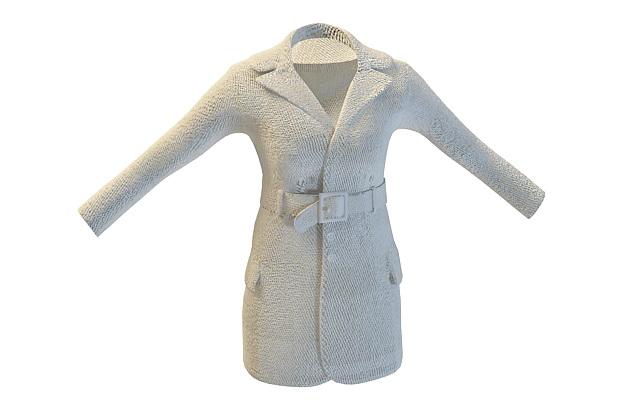 Ladies hooded coat 3d rendering