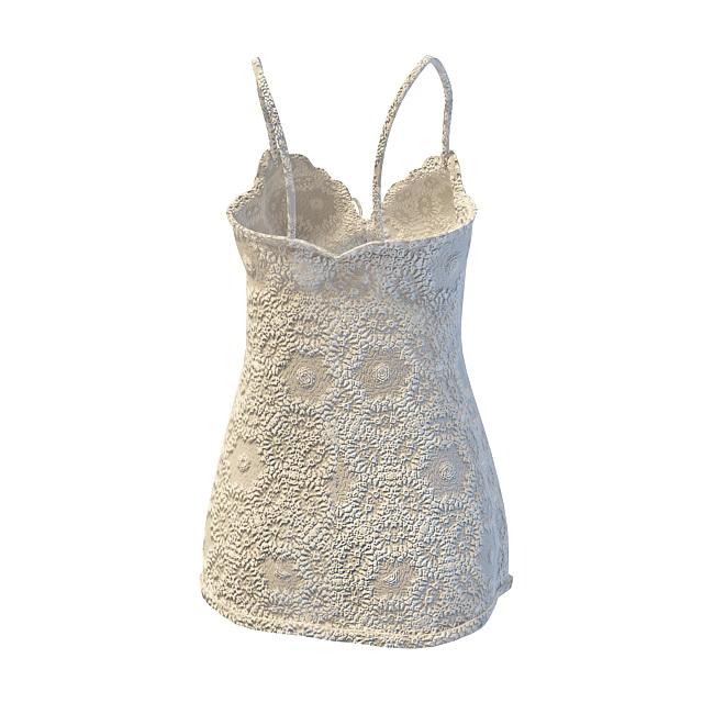 Camisole lingerie 3d rendering