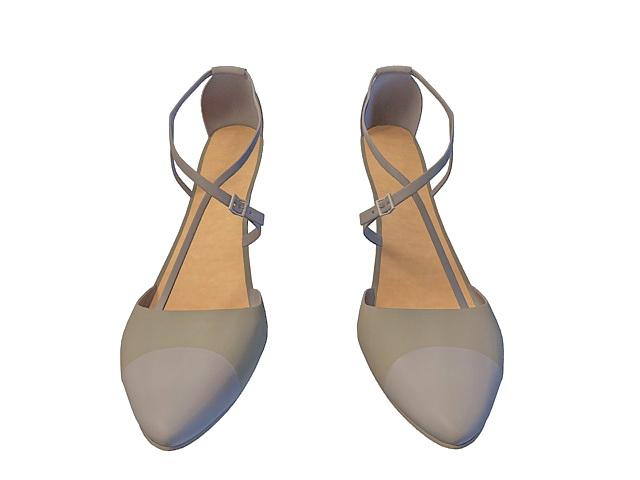 High-heeled dress shoe 3d rendering
