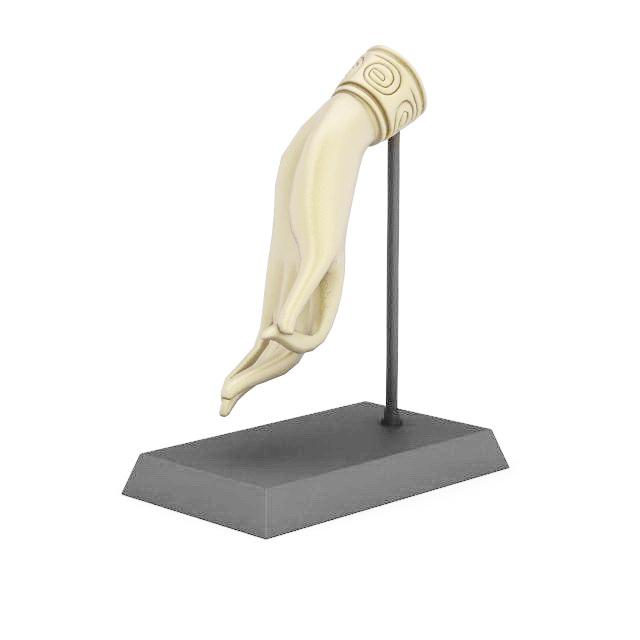Hand mannequin jewelry display 3d rendering