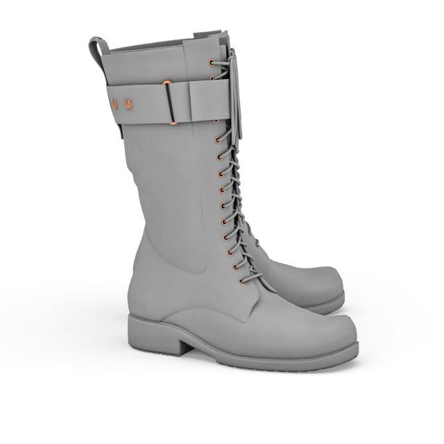Combat boot 3d rendering