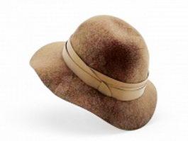 Wide Brim Kentucky Derby Hat 3d preview
