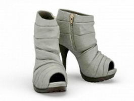 Open toe ankle boot 3d model preview