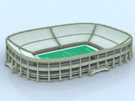 Olympic stadium building 3d preview