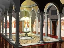 Indoor patio fountain 3d preview