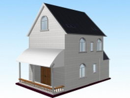 Small modern house 3d preview