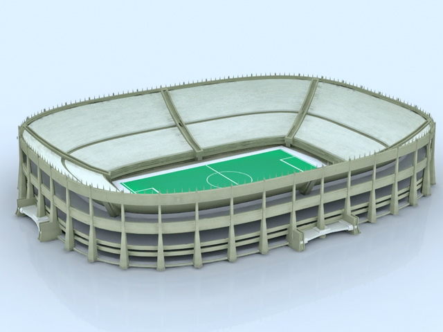 Olympic stadium building 3d rendering