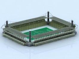 Football stadium building 3d preview