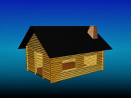 Wood country cottage 3d model preview