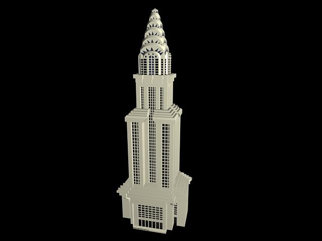 Chrysler building 3d rendering