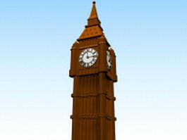 Clock tower 3d preview