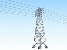 Transmission tower 3d preview