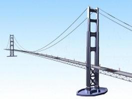 George Washington bridge 3d model preview