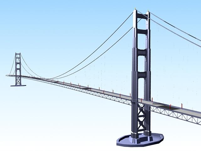 George Washington bridge 3d rendering