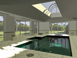 Residential indoor swimming pool 3d preview
